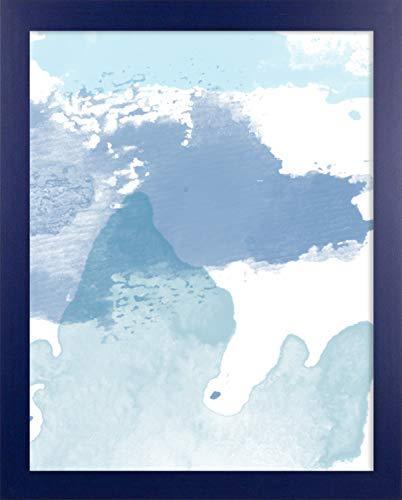 Misano rand fotolijst 19,7x39,4 Inch (50 x 100 cm) met Antireflecterende kunststof glas Perspex 39,4x19,7 Inch fotolijst Kleur Donkerblauw wazig