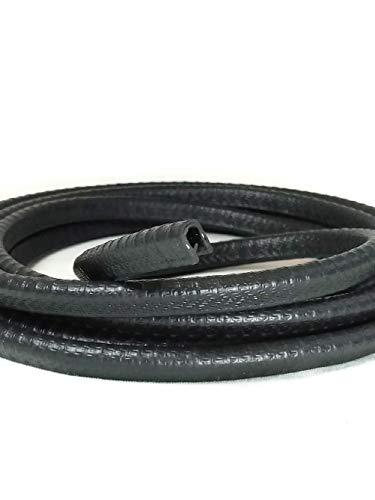 Borde ribeteado negro pequeño en forma de U, 0,94 pulgadas U 0,95 x 0,09 cm, rango de agarre de 0,23 cm