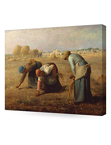 DECORARTS - The Gleaners, Jean-Francois Millet Art Reproduction. Giclee Canvas Prints Wall Art for Home Decor 20x16