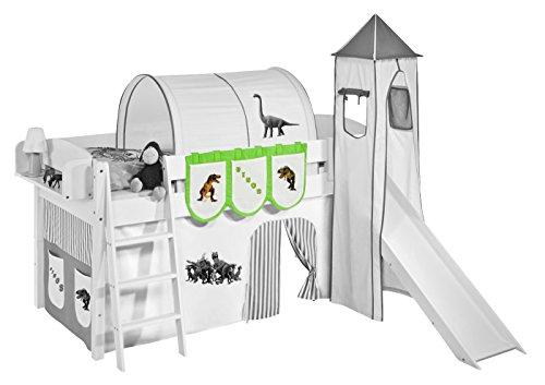Lilokids Hängetaschen Dinos Grün Beige - für Hochbett, Spielbett und Etagenbett