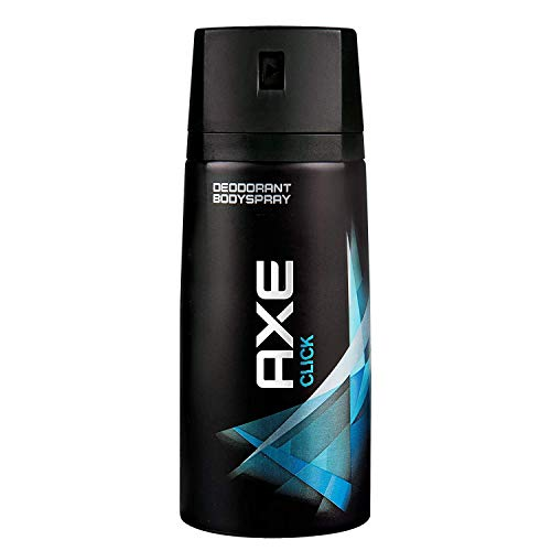 Axe Click Déodorant Homme Spray Sans Sels d'Aluminium, Pour Sentir Bon Toute la Journée 150ml