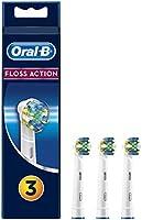 Oral-B FlossAction Cabezales de Recambio, Pack de 3 Recambios Originales para Cepillos de Dientes Eléctricos