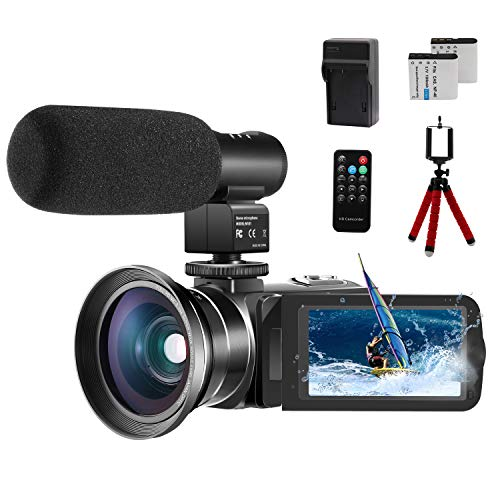 Video Camera 1080P Camcorder CofunKool 24.0MP Vlogging Camera for YouTube, 270° Flipping 3.0' IPS...
