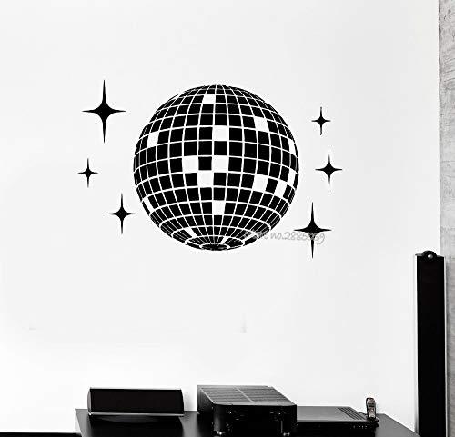 JXFM Planet Vinyl Wandtattoo Discokugel Studio Nachtclub Party Wandbild Wandaufkleber Wohnzimmer Hauptdekoration modern62x42cm