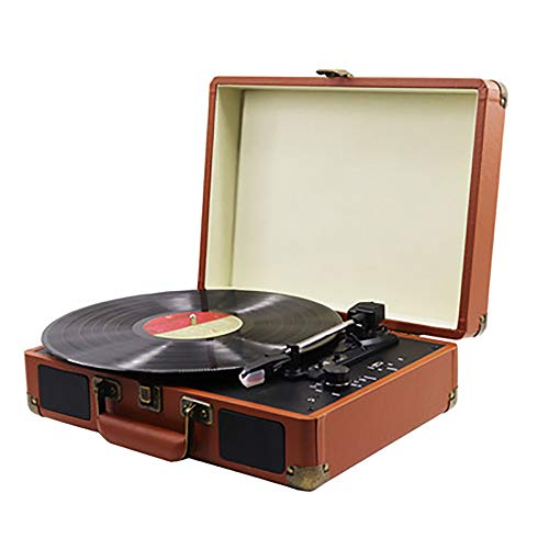 HXWS draaitafel Vinyl Record Player Ondersteuning in & Out Record Player met ingebouwde Stereo Speakers Retro Phonograph Vinyl Record Player ondersteunt Rca Output