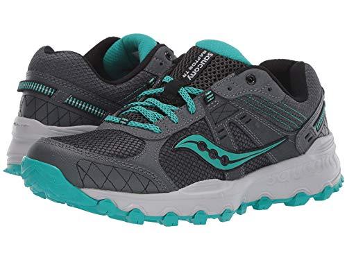 Saucony Women's Grid Raptor TR 2 Running Shoe, Charcoal/Teal, 9.5