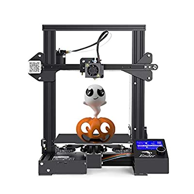 Creality Ender 3 3D Printer MKK Fully Open Source with Resume Printing,Upgraded Build Surface Plate Mat, UL Certified Power Supply, Metal Frame FDM DIY Printers 220x220x250mm