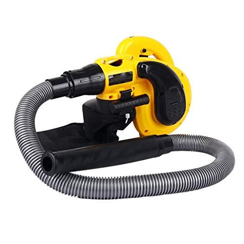 Yangangjin ventilator, compacte ventilator, 6 versnellingen, 1800 W, super wind blazen en zuigen, geschikt voor huisdieren in de auto binnen en buiten, geel