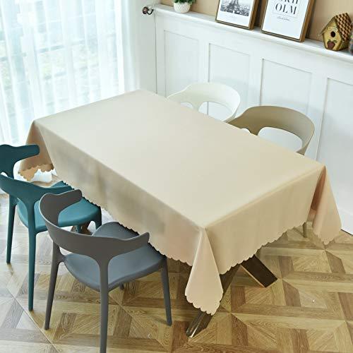 Liujiu - Mantel rectangular de mantel, algodón, lino, bordado, para cocina, mesa, 120 x 160 cm