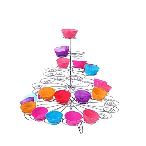 Yaeeee Norte de Europa 4-Tier Metal Soporte de la Torta de la Magdalena Soporte for Las Bodas, Pantalla, Baby Showers Y Partes Food Party Servidor (Color: Natural, tamaño: un tamaño)