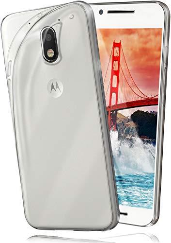 moex Aero Hülle kompatibel mit Motorola Moto E3 - Hülle aus Silikon, komplett transparent, Klarsicht Handy Schutzhülle Ultra dünn, Handyhülle durchsichtig einfarbig, Klar