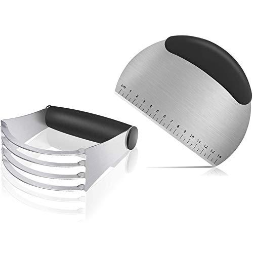Raschietto Taglia Impasto | Raschietto Taglia Impasto con Segni di Misurazione | Frullatore Per Pasta | Cucina Manuale Tagliapasta Miscelatore | Set da forno per pasta