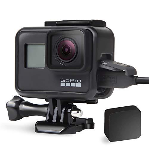 【ActyGo】 GoPro ゴープロ アクセサリー hero7 black用 充電フレームケース (ケース+レンズカバー付き)