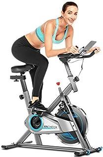 ANCHEER Bicicleta Estática de Spinning Bicicleta Interior Volante Inercia 10kg,Conexión con APP,Pa