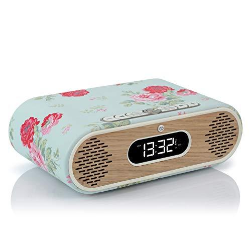 VQ Rosie-Lee DAB / DAB+ Digital & FM Radiowecker & Bluetooth-Lautsprecher – Cath Kidston Antique Rose