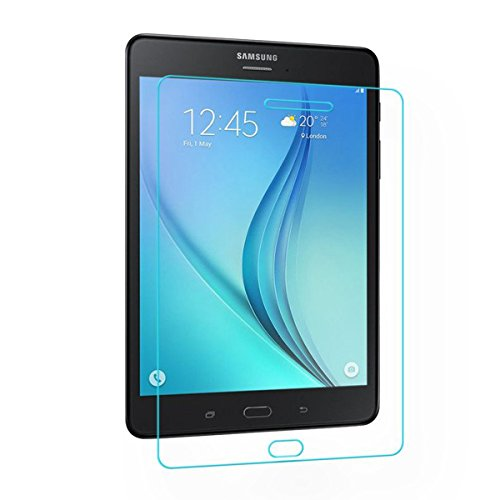 fastway tempered glass screenguard for samsung galaxy tab a t355y 8 inch tablet screen guard (Transparent)
