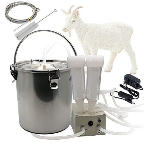 Hantop 3L Goat Milking Machine,Portable Pulsation...