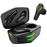 Gaming Wireless Bluetooth Earbuds, Kingstar Bluetooth 5.1 Headphones with Adapter Low Latency, Open Case Pairing Deep Bass True Wireless Gaming Earbuds Headset for PC Mobile PS5 PUBG COD