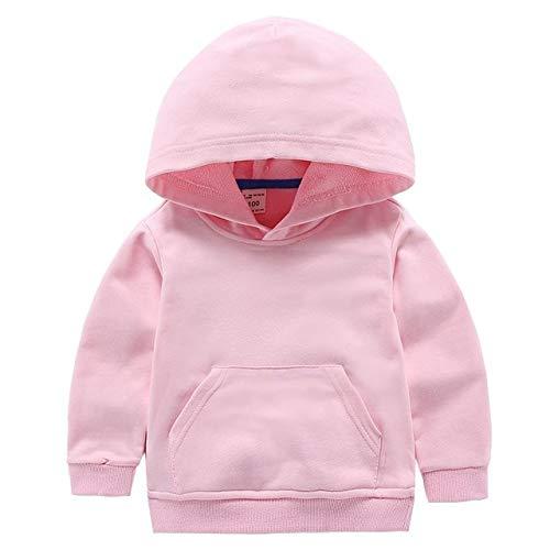 WANGYUEGUANG Printemps Mignon Pull pour Enfants Coton Couleur Unie vêtements vêtements pour Enfants Pull à Capuche Blanc
