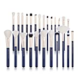 Jessup Juego de brochas de maquillaje Base en polvo Sombra de ojos Delineador Corrector Brochas de rubor Maquillaje 25pcs Azul T490