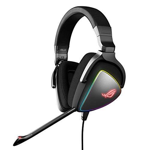 Asus ROG Delta Cuffie Gaming, Quad-DAC, Aura Sync RGB Circolare, Compatibile con PS4, Type C, Colore Nero