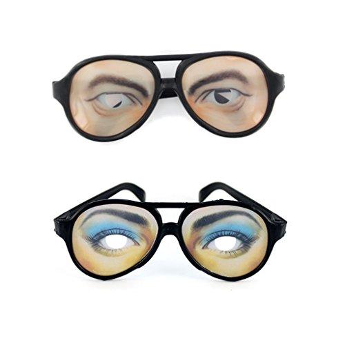 2 X Cristales De Gafas Broma Gag Ojos Divertidos Para Hombre Vestido De Lujo Del Partido De Soltero / Mujer