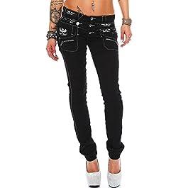 Cipo & Baxx Women's Jeans Hip Jeans Skinny Regular Fit Stretch Tube Design