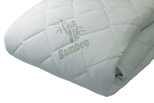 BetterSleepWell Wasserbett-Auflage Premium Bamboo - Bambus Wasserbettbezug - hochwertige Wasserbetten-Auflage - Oberteil - atmungsaktiv & klimatisierend 90 x 200 cm