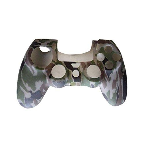 VORCOOL Silikon Schutzhülle Gehäuse für PS4 Controller (Camouflage Grau)