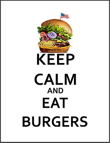 【FOX REPUBLIC】【KEEP CALM アメリカン ハンバーガーを食べよう】 白光沢紙(フレーム無し)A3サイズ
