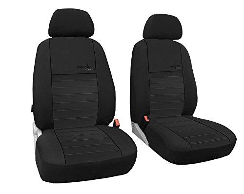 POK-TER-TUNING Vordersitzbezüge 1+1, Sitzbezüge passend für Dokker - Design Trend line.Farbe schwarz (In 6 Farben bei Anderen Angeboten erhältlich)