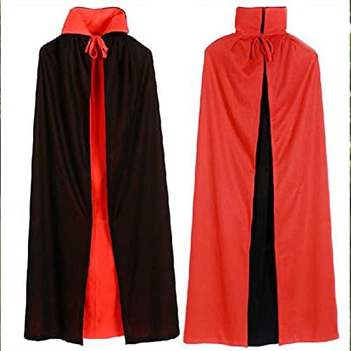 PAPU Capa de Halloween con capucha para hombre, capa larga, tnica de caballero, disfraz de vampiro, capa de cosplay, talla M, color negro