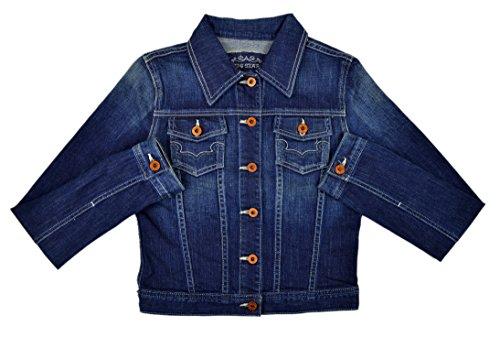 Big Star Women's Contrast Stitch Cotton Deinm Jean Jacket Rinsed Wash Small