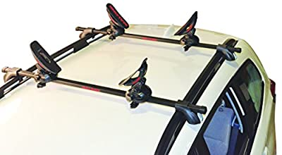 Malone Saddle Up Pro Universal Car Rack Kayak Carrier (Set of 4) with Bow and Stern Lines