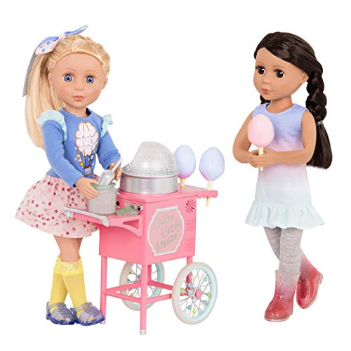 "Glitter Girls by Battat – Cotton Candy Machine On Wheels for 14"" Dolls - Toys, Clothes, & Accessories for Girls Ages 3 & Up"