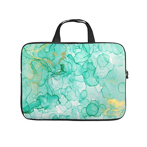 Waterproof Marble Texture Ink Laptop Sleeve Carry On Handle Case -Abstract Art for Men Women Boys Girls White 12 Zoll