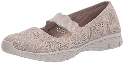 Skechers Damen Seager Pitch Out Sneaker, Taupe, 24.5 EU