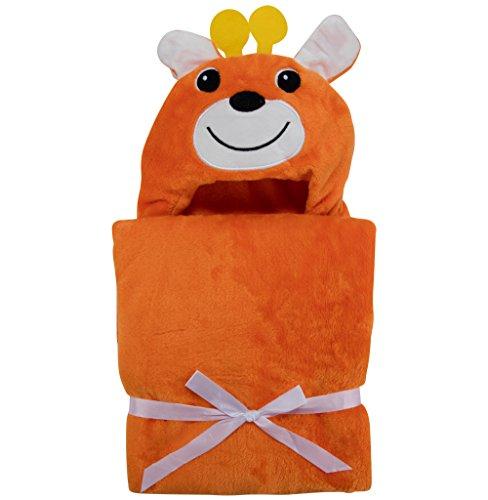 Asciugamano con Cappuccio per Neonati - Morbido Accappatoio Poncho in Microfibra per Bambini (Renna)