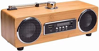 Bamboo Carved Bluetooth Speaker Home Double Speaker Speaker Retro Rectangular Speaker Can Be Customized