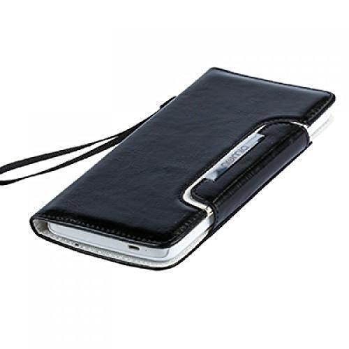 Huawei Ascend Y200 Hülle, numia Handyhülle Handy Schutzhülle [Book-Style Handytasche mit Standfunktion und Kartenfach] Pu Leder Tasche für Huawei Ascend Y200 Case Cover [Schwarz-Weiss] - 7