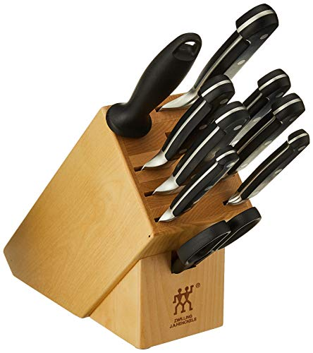 Zwilling J.A. Henckels Professional S Knife Block Set, 10 Piece, Black