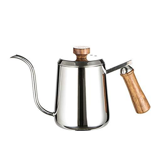 LYGACX Hervidor de Cuello de Cisne, hervidor Estrecho de Acero Inoxidable hervidor de Tetera de cafe, hervidor de cafe hervidor de Agua,350ML