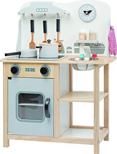 jumini Children's Wooden Light-Up Kitchen Playset: Kitchen Set with...