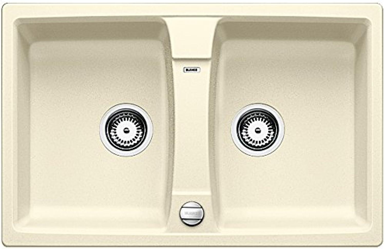Weiß Lexa 8, Küchenspüle, Granitspüle aus Silgranit PuraDur, 1 Stück, jasmin, 514687