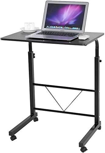 LYLSXY Mesa Móvil Portátil, Escritorio De Computadora Ajustable, Adecuado para Oficina, Sala De Conferencias, Biblioteca (Color : Black Walnut)