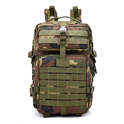QND,Backpack 40L Backpack Waterproof Bag Small Rucksack for Outdoor Hiking Camp Hunting,Camouflage