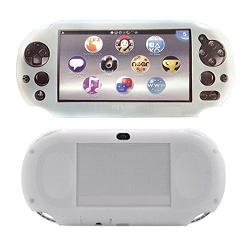 SNNC PlayStation Vita 2000 Silicon Full cover Skin Protector Case for PSV2000 (White)