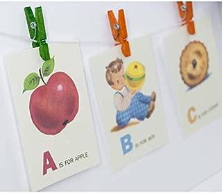 Z is for Zebra ABC Alphabet Vintage Style Flash Cards, Animal, Zoo, School, ABC, Alphabet, ABC flash cards, Cat, Duck, Dog