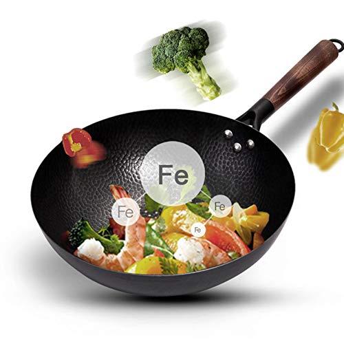KIODS Pot Iron Niet-Coating Pot Gietijzeren Pan Algemeen Gebruik Voor Gas En Inductie Cooker Chinese Wok Cookware Pan Keuken Gereedschap