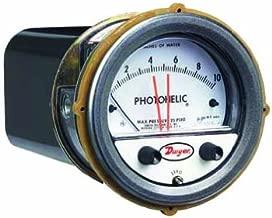 Dwyer Photohelic Series A3000 Pressure Switch/Gauge, Range 5-0-5